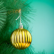 Stock Photo: Christmas decoration on the tree - holiday concept