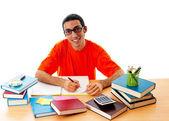 Conceito de educação com estudante — Foto Stock