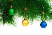 Decoração de Natal, isolada no fundo branco — Fotografia Stock