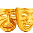 Masks with the theatre concept — Stock Photo #6485638