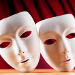 Masks with theatre concept - ストック写真