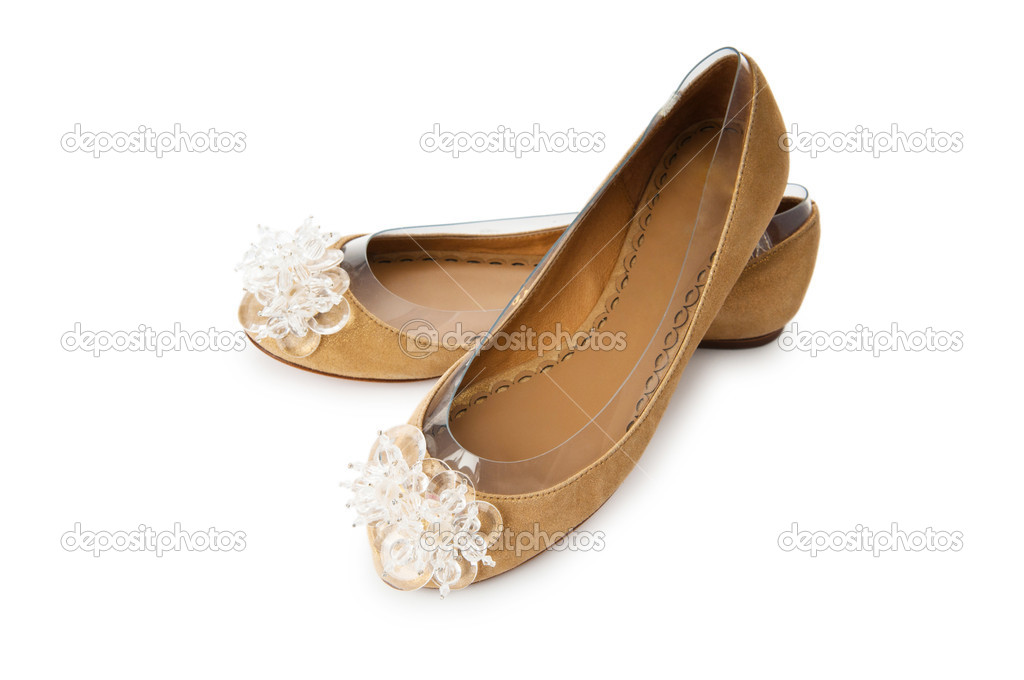 Summer woman shoes on white — Stock Photo #6484985