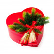 Christmas concept with decoration and giftbox — Stock Photo #6591307