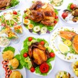 Постер, плакат: Table served with tasty meals