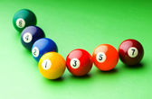 Pool balls on the table — Stock Photo