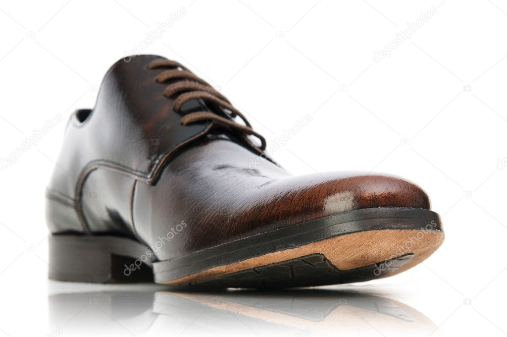 Fashion concept with male shoes on white — Stock Photo #6592954