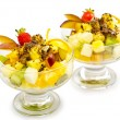 Fruit dessert in the plate - Foto de Stock