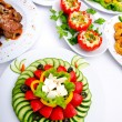 Table served with tasty meals — Stock Photo #6604576