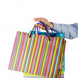 Christmas shopping concept with bags - Stok fotoraf