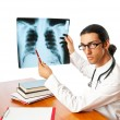 Male doctor looking at x-ray image — Stock Photo #6610947