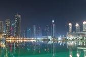 Dubai view at night time — Stock Photo
