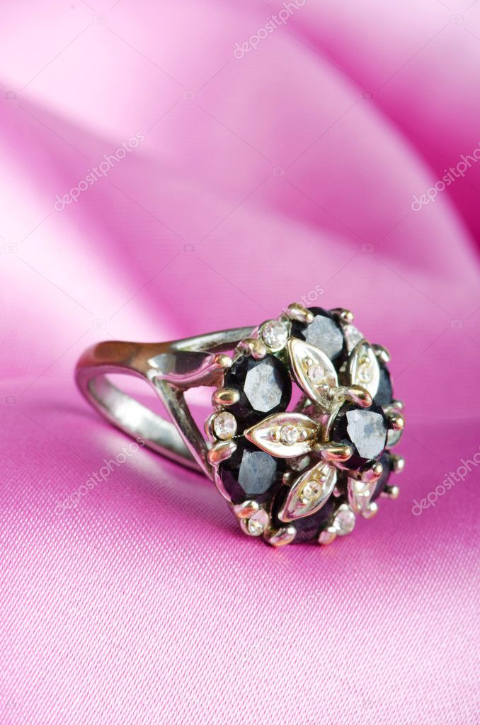 Fashion concept with ring on background — Stock Photo #6611665