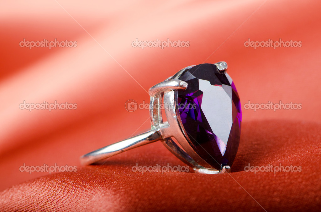 Fashion concept with ring on background — Stock Photo #6615857