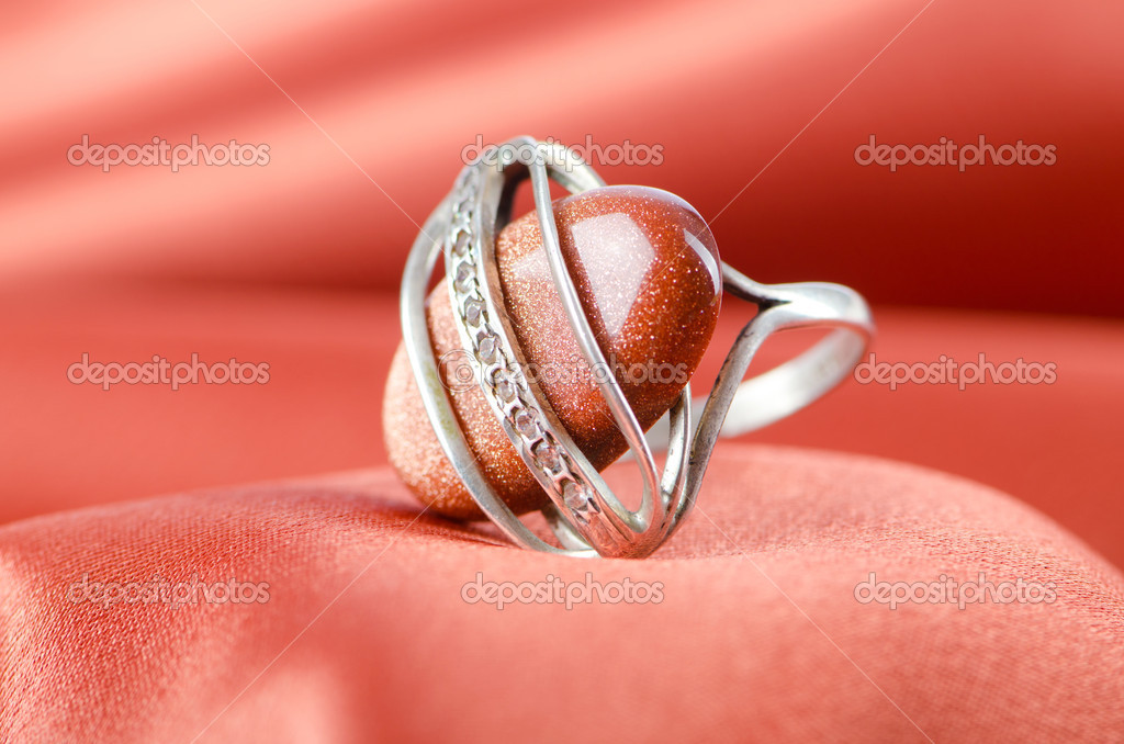 Fashion concept with ring on background — Stock Photo #6616086