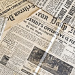 Ancient newspapers - Stock Photo