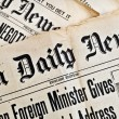 Stock Photo: Background with ancient newspapers