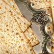 Matza bread for passover celebration — ストック写真