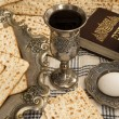 Matza bread for passover celebration — Stock Photo