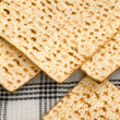 Matza bread for passover celebration - Stok fotoğraf