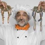Chef preparing crabs — Stock Photo #5814166