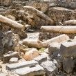 Ruins of Roman-Byzantine Scythopolis in Beit Shean - Stock Photo