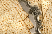 Matza bread for passover celebration — Stockfoto