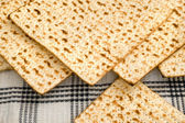 Matza bread for passover celebration — Foto Stock