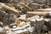 Ruins of Roman-Byzantine Scythopolis in Beit Shean — Stock Photo