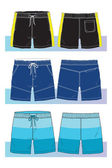 Shorts for young men — Stock Vector