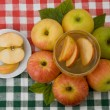 Stock Photo: Honey with ripe apple for Rosh Hashana