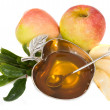 Stock Photo: Honey with apple for Rosh Hashanah – jewish new year