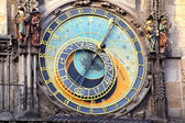 Old astronomical clock in Prague — Photo