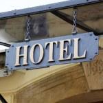 "Signboard ""Hotel"" — Stock Photo"