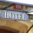 Signboard Hotel — Stock Photo