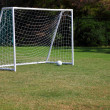 Football goal - Stock Photo