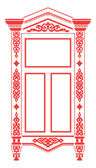Traditional Russian window_2 — Stock Vector