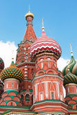 St. Basil's Cathedral in Moscow on red square — Foto de Stock