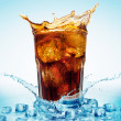 Glass with cola and ice — Stock Photo #5440581