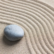 Zen stone in the sand — Stok fotoğraf