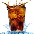 Glass with cola and ice — Stock Photo #5442548