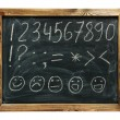 Stock Photo: Alphabet handwritten on blackboard