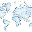 Стоковое фото: World map from water splashes