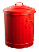 Red Recycle Bins Isolated — Stock Photo