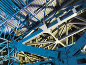 Abstrakte metallkonstruktion. — Stockfoto
