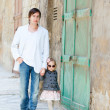 Father and daughter outdoors in city — Stock Photo #5560238