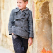 Boy portrait outdoors - Stock Photo