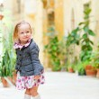 Little girl portrait outdoors — Stockfoto