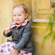 Little girl portrait outdoors - Foto Stock
