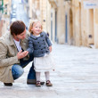 Father and daughter in city — Stock Photo #5583692