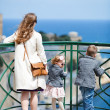 Stock Photo: Family at viewpoint